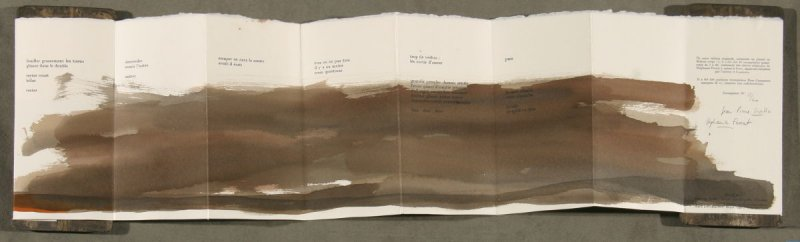 IUntitled image on verso side of accordion--fold book Entrer by Jean-Pierre Sintive (Paris?: Dana, 1998)