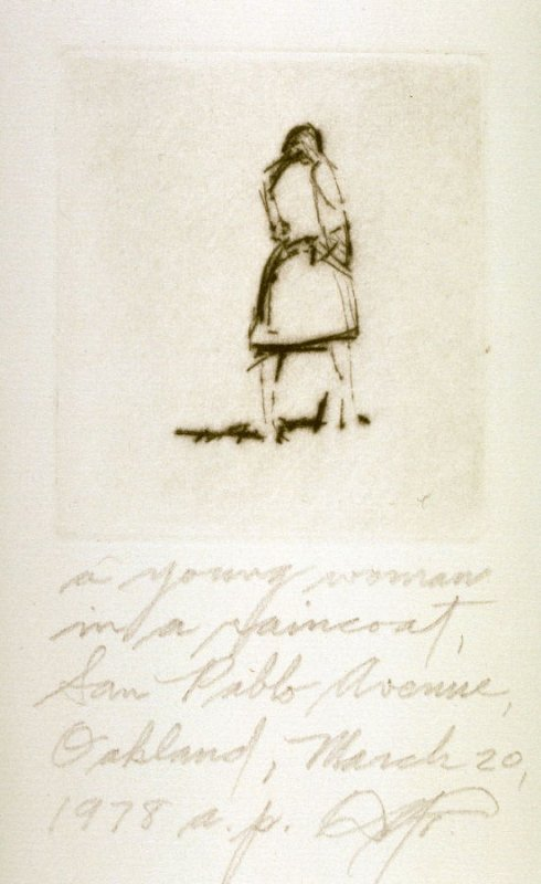 A Young Woman in a Raincoat