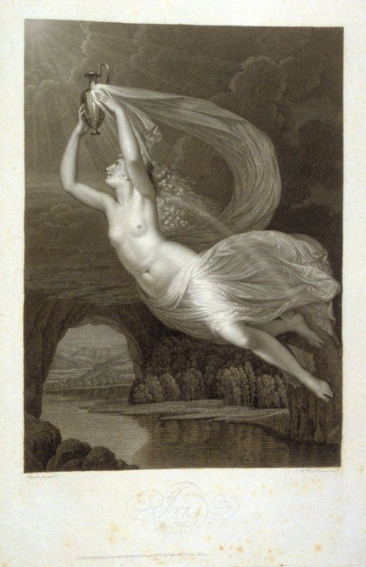 Iris, twenty-second plate in the book, [Buchanan's Gallery], an untitled collection of engravings primarily from Select Work of Engravings (London: Historic Gallery, 1813-14)]
