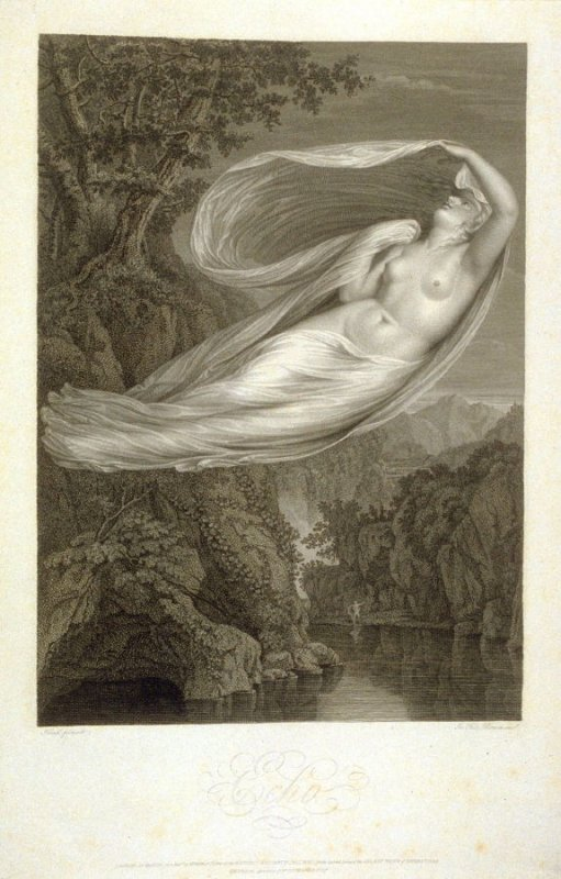 Echo, twenty-third plate in the book, [Buchanan's Gallery], an untitled collection of engravings primarily from Select Work of Engravings (London: Historic Gallery, 1813-14)]