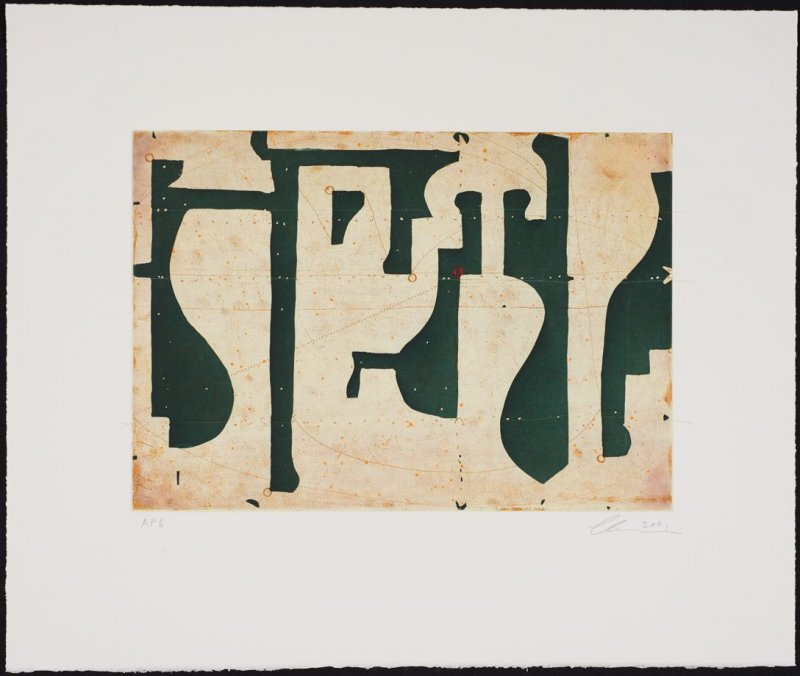 Seven String Etching No.9