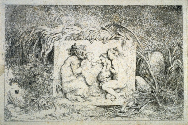 La Famille de satyre (The Satyr's Family), from the set of four Bacchanales