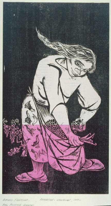 Untitled (Girl Plucking Grapes)