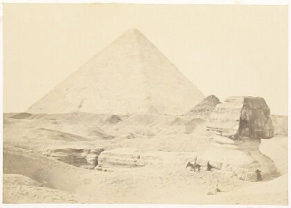 """The Sphynx, and Great Pyramid, Gezeh,"" in the book Egypt and Palestine, 2 vols., by Francis Frith (London: James S. Virtue, 1858-1859); volume I of II"