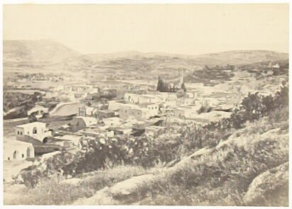 """""""Nazareth, from the North-West ,"""" in the book Egypt and Palestine, 2 vols., by Francis Frith (London: James S. Virtue, 1858-1859); volume I of II"""