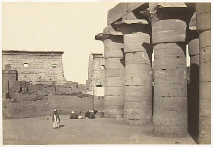 """""""View at Luxor, Thebes,"""" in the book Egypt and Palestine, 2 vols., by Francis Frith (London: James S. Virtue, 1858-1859); volume I of II"""
