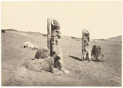 """""""Colossi and Sphynx at Wady Saboua, Nubia,"""" in the book Egypt and Palestine, 2 vols., by Francis Frith (London: James S. Virtue, 1858-1859); volume I of II"""