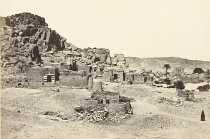 """""""Antiquities upon th eIsland of Biggeh, near Philae,"""" in the book Egypt and Palestine, 2 vols., by Francis Frith (London: James S. Virtue, 1858-1859); volume I of II"""
