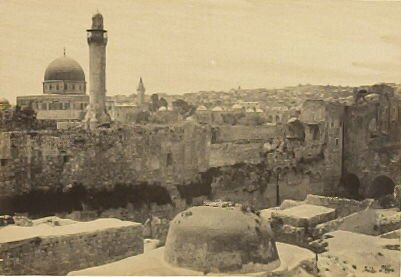 """""""Jerusalem from the City Wall,"""" in the book Egypt and Palestine, 2 vols., by Francis Frith (London: James S. Virtue, 1858-1859); volume I of II"""