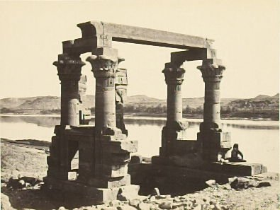 """""""The Temple of Wady Kardassy, Nubia,"""" in the book Egypt and Palestine, 2 vols., by Francis Frith (London: James S. Virtue, 1858-1859); volume II of II"""