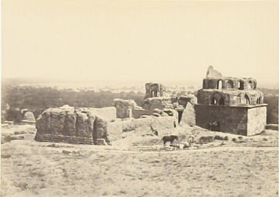 """""""Distant View of Damascus, from Salihiyeh,"""" in the book Egypt and Palestine, 2 vols., by Francis Frith (London: James S. Virtue, 1858-1859); volume II of II"""