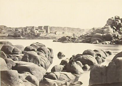 """""""The Approach to Philae,"""" in the book Egypt and Palestine, 2 vols., by Francis Frith (London: James S. Virtue, 1858-1859); volume II of II"""