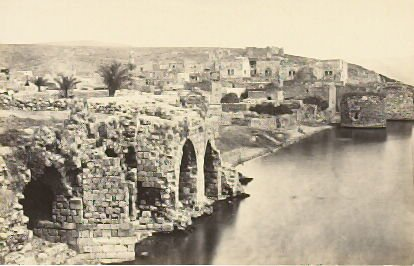 """""""Tiberias, from the South,"""" in the book Egypt and Palestine, 2 vols., by Francis Frith (London: James S. Virtue, 1858-1859); volume II of II"""