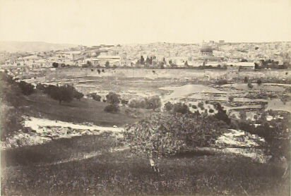 """""""Jerusalem, from the Mount of Olives. no. 1.,"""" in the book Egypt and Palestine, 2 vols., by Francis Frith (London: James S. Virtue, 1858-1859); volume II of II"""