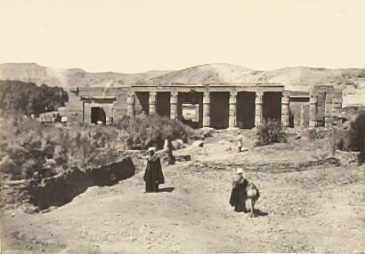 """""""The Temple of Goorneh, Thebes,"""" in the book Egypt and Palestine, 2 vols., by Francis Frith (London: James S. Virtue, 1858-1859); volume II of II"""