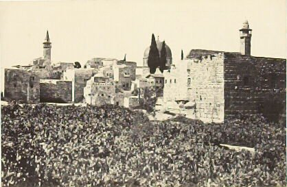 """""""The Tyropean Valley,"""" in the book Egypt and Palestine, 2 vols., by Francis Frith (London: James S. Virtue, 1858-1859); volume II of II"""