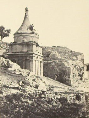 """Absalom's Tomb, Jerusalem,"" in the book Egypt and Palestine, 2 vols., by Francis Frith (London: James S. Virtue, 1858-1859); volume II of II"