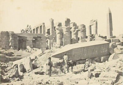 """""""The Broken Obelisk, Karnac,"""" in the book Egypt and Palestine, 2 vols., by Francis Frith (London: James S. Virtue, 1858-1859); volume II of II"""