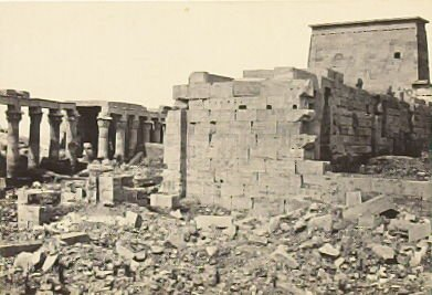 """""""View on the Island of Philae,"""" in the book Egypt and Palestine, 2 vols., by Francis Frith (London: James S. Virtue, 1858-1859); volume II of II"""
