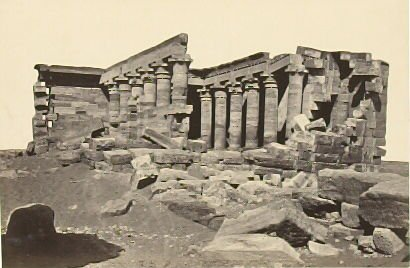 """The Temple of Maharraka, Nubia,"" in the book Egypt and Palestine, 2 vols., by Francis Frith (London: James S. Virtue, 1858-1859); volume II of II"