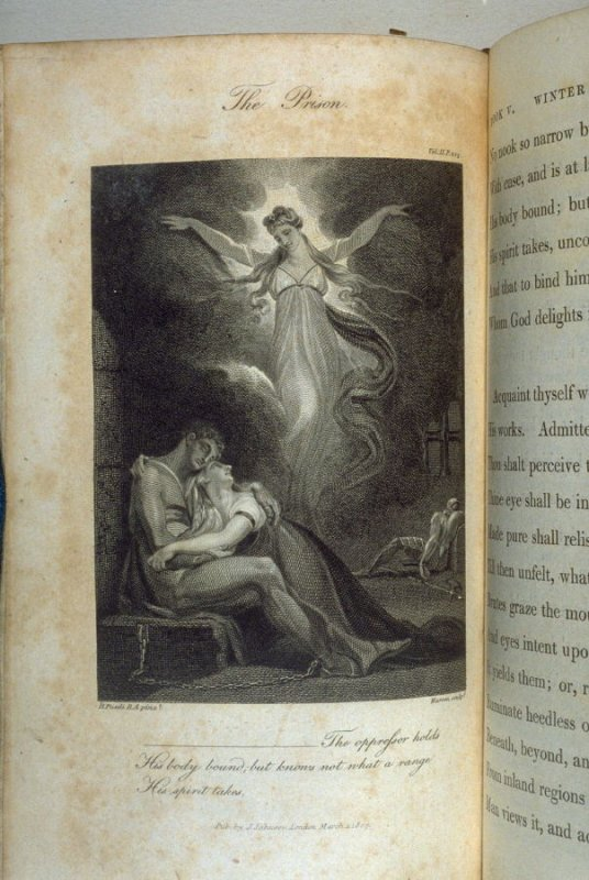 The Prison., plate opposite p. 223 in the book, Poems by William Cowper (London: J. Johnson , 1808), vol. 2