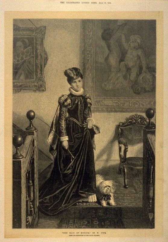 The Maid of Honour - The Illustrated London News 13 July 1872