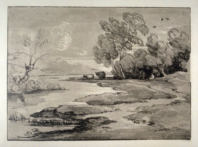 Wooded River Landscape with Shepherds and Sheep