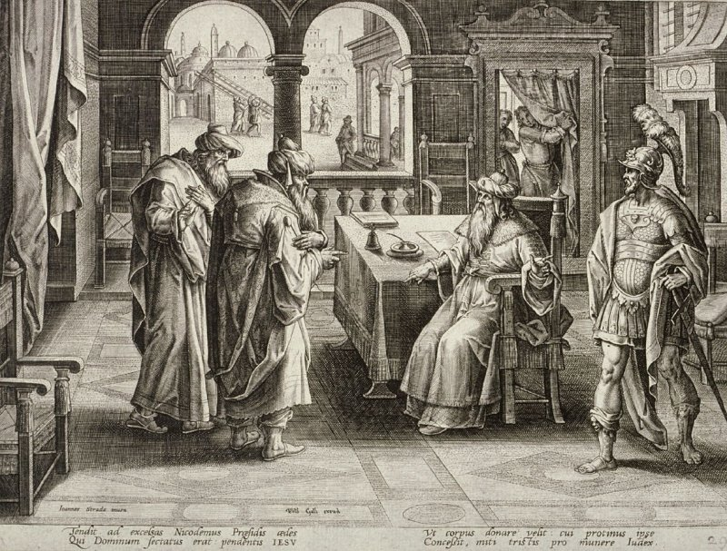 Joseph of Arimathea Before Pilate, no. 29 from The Passion of Christ