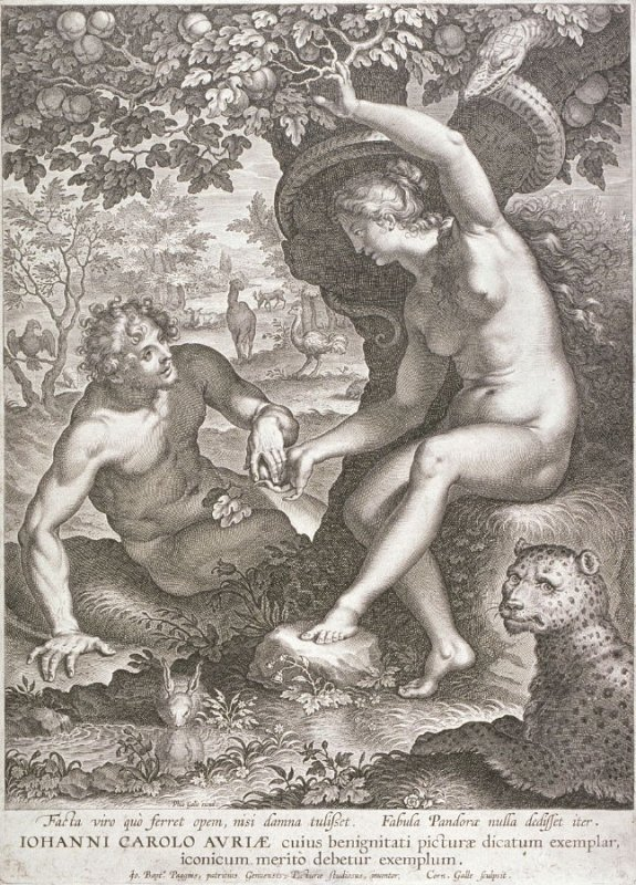Eve giving the Apple to Adam