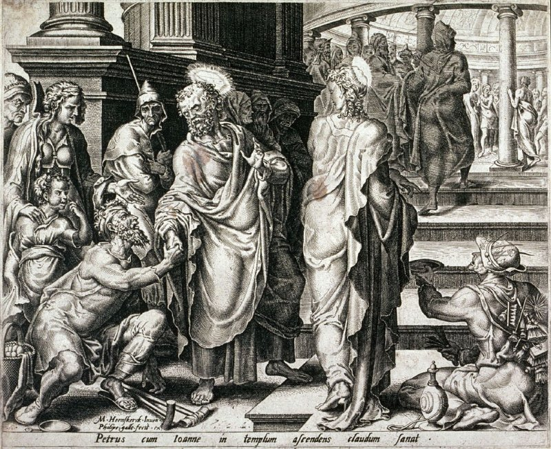 St. and St. Paul healing the sick