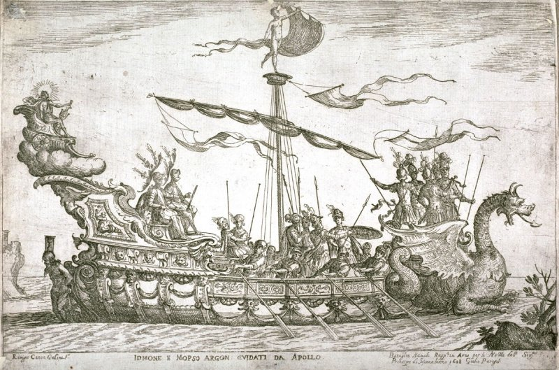 The Ship of the Argonauts Idmone and Mopso, Guided by Apollo, for the wedding festivites of the Duke of Tuscany