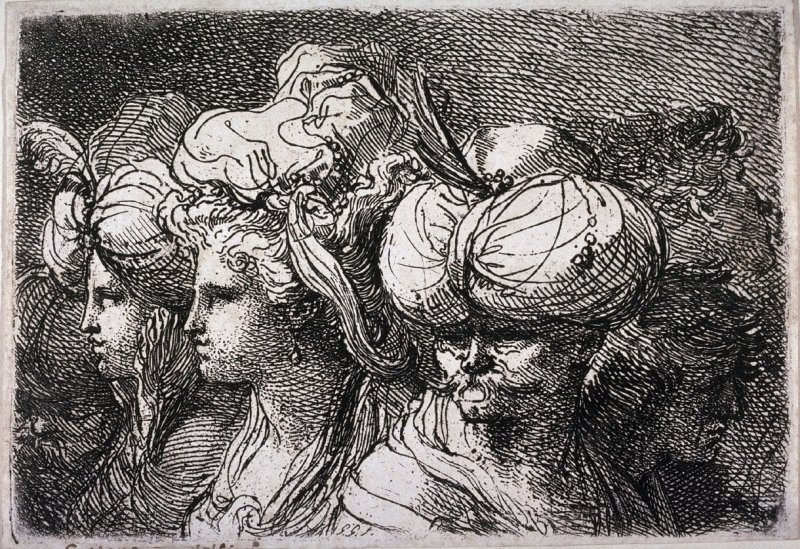 Heads of a Turk and Several Women