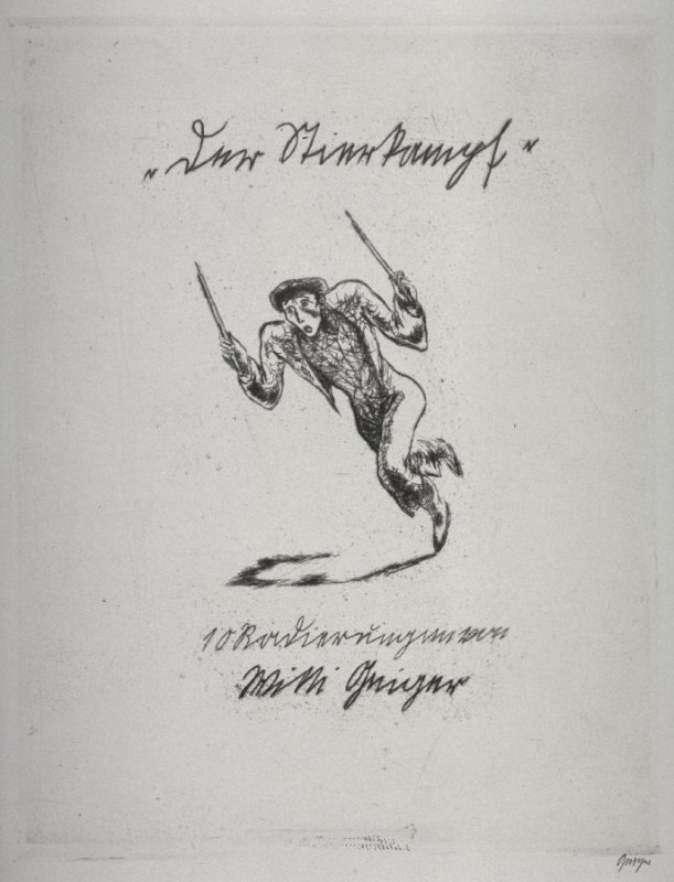 Title page from Series of 10 Etchings (DP) and Title of Bull Fight scenes as follows: Title of Bull Fight Series