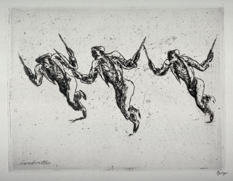 Series of 10 Etchings (DP) and Title of Bull Fight scenes as follows: #2 Banderillas