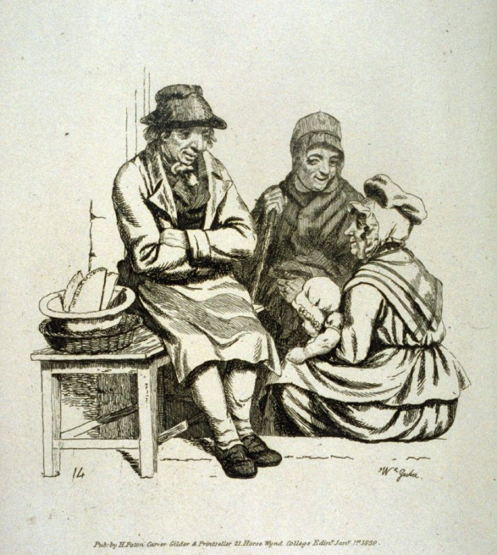 Two women, baby and man