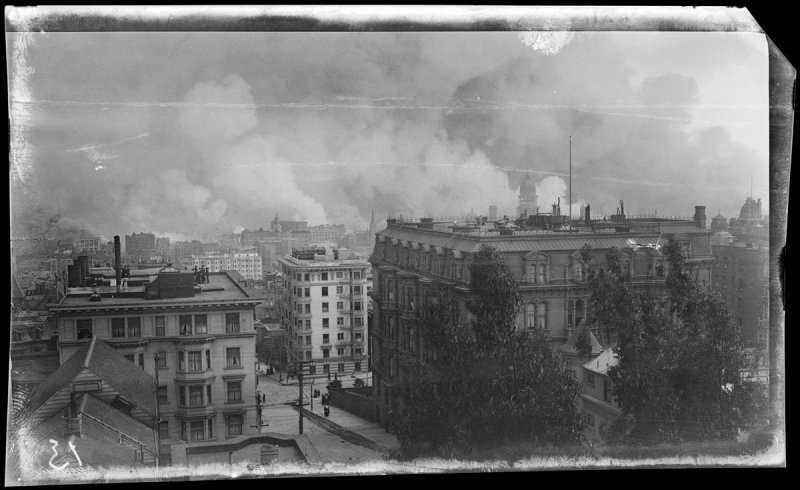 Untitled (View from Tobin House, California and Taylor, San Francisco)