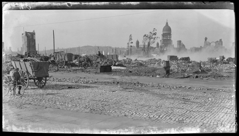 Untitled (City Hall from 12th and Market Streets, San Francisco)