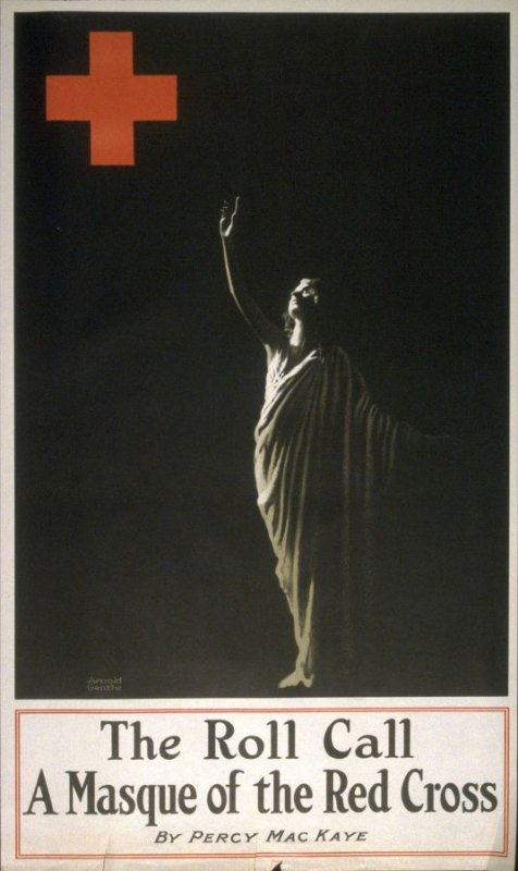 The Roll Call, A Masque of the Red Cross - World War I Poster