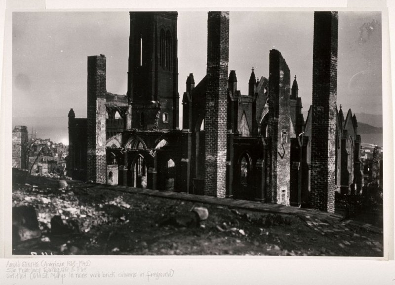 Untitled (Grace Church, California and Stockton Streets, San Francisco)