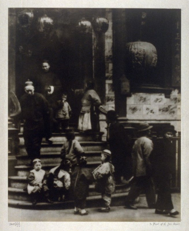 In Front of the Joss House from the Chinatown Series