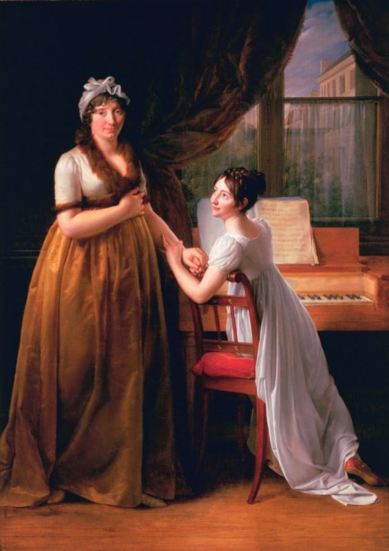 Comtesse de Morel- Vinde and her Daughter (The Music Lesson)
