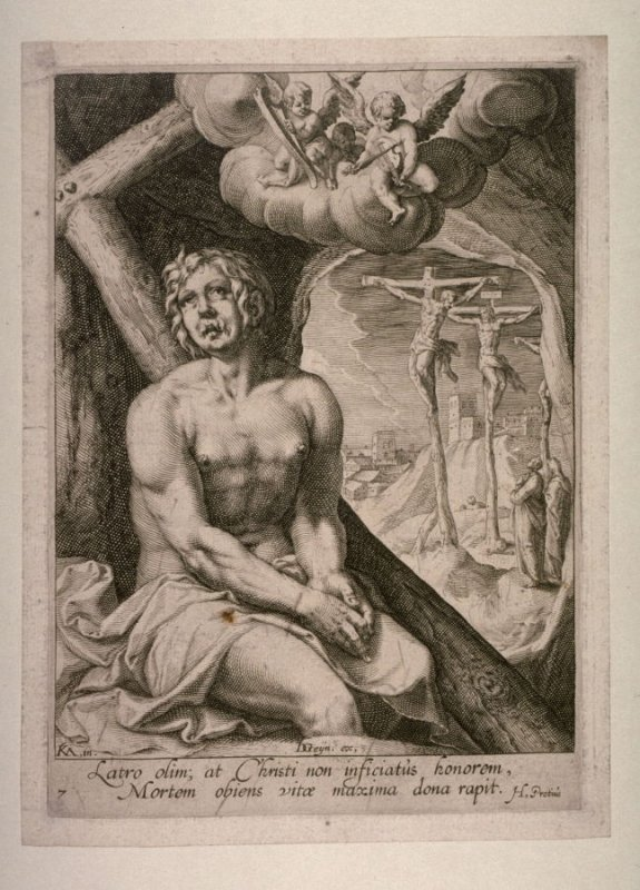 The Penitent Thief [Luke 23:40-43], from the series Eight Repentant Sinners from the Old and New Testament