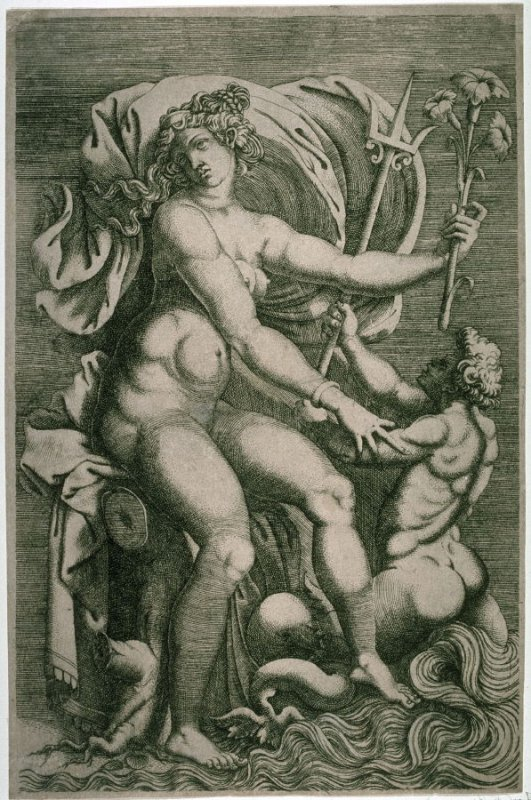 Thetis Seated with a Triton