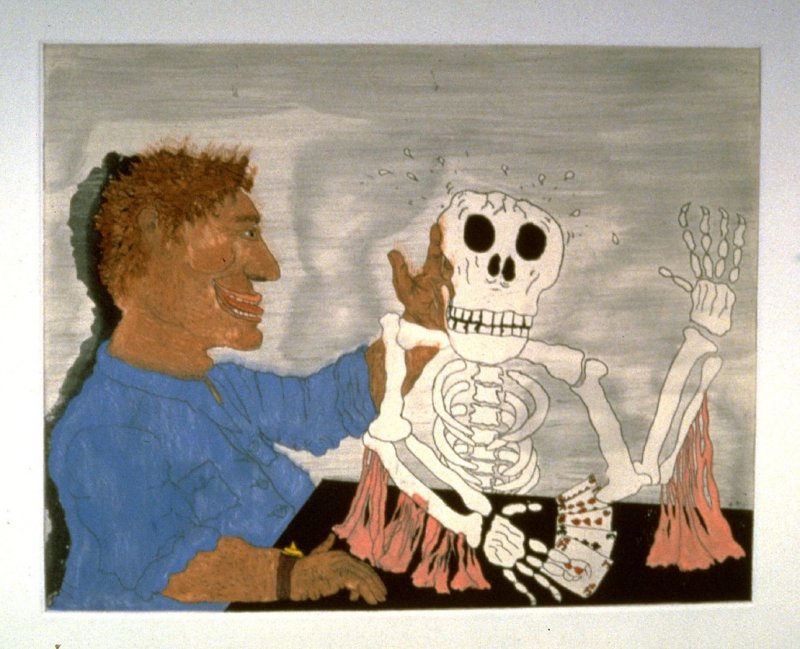 Selbstbildnis mit Tod (Self-Portrait with Death), from the series 3-A