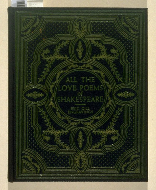 All the Love Poems of Shakespeare (New York: privately