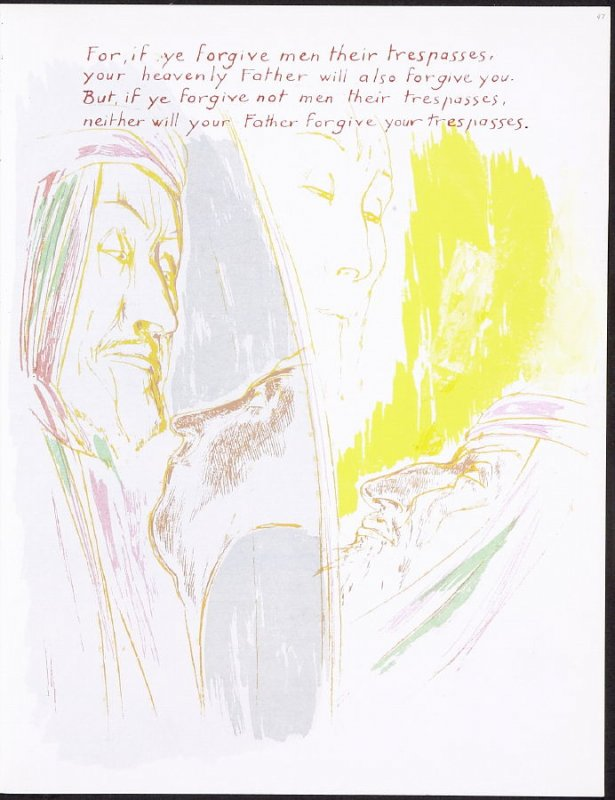 For, if ye forgive men their trespasses, your heavenly Father will also forgive you..., numbered page 47 and third page of the twelfth folio in the unbound book Sayings of Jesus (Milwaukee: Chirho Press, Marquette University, 1956)