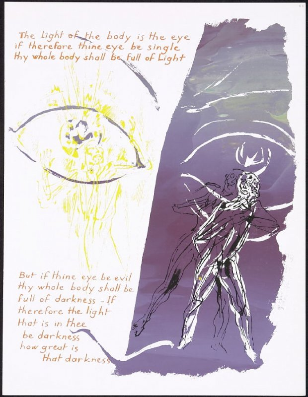 The Light of the body is the eye... ,numbered page 53 and first page of the fourteenth folio in the unbound book Sayings of Jesus (Milwaukee: Chirho Press, Marquette University, 1956)