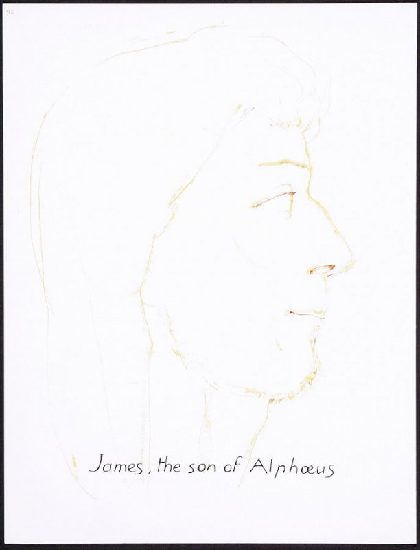 James, the son of Alphoeus, numbered page 92 and fourth page of the twenty-third folio in the unbound book Sayings of Jesus (Milwaukee: Chirho Press, Marquette University, 1956)