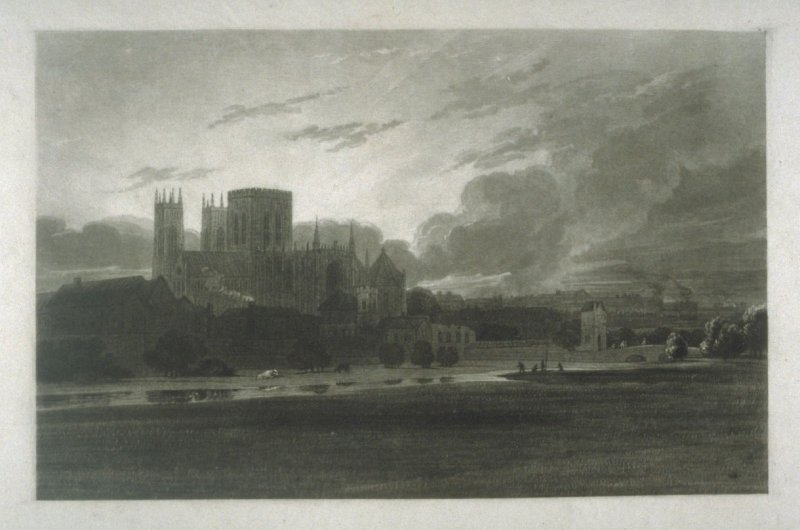 Plate 7: York Minster on the River Foss, from the series 'The Rivers of England'