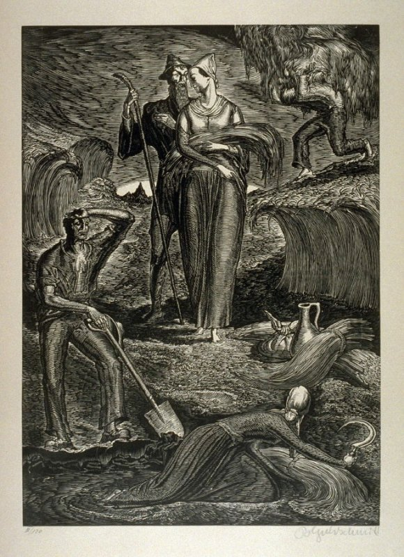 Ruth - Plate 13 from the portfolio Die Bibel (The Bible)